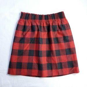 J.Crew Wool Blend Lined Plaid Mini Skirt (E5)